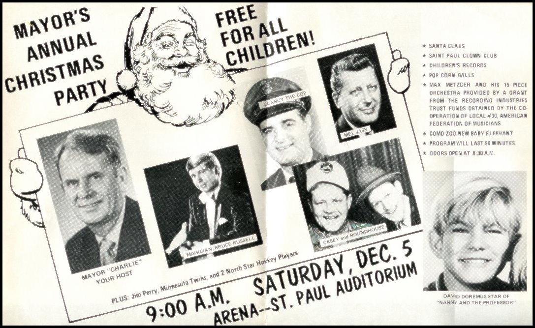 Super Mayor's Christmas Party 1970 advirtisement